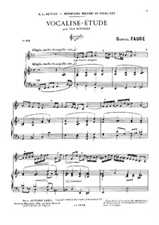 Vocalise-étude: D Minor by Gabriel Fauré