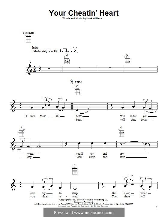 Your Cheatin' Heart: Für Ukulele by Hank Williams