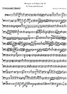 Romanze für Violine und Orchester Nr.1 in G-Dur , Op.40: Cellostimme by Ludwig van Beethoven