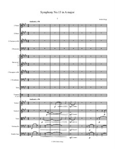 Symphony No.13 in A: Symphony No.13 in A by Jordan Grigg