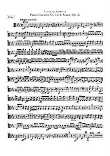 Konzert für Klavier und Orchester Nr.3, Op.37: Violastimme by Ludwig van Beethoven