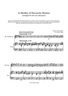 A Medley of Favourite Hymns: For alto sax and piano by Unknown (works before 1850)