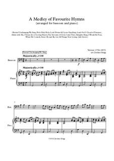 A Medley of Favourite Hymns: Für Fagott und Klavier by Unknown (works before 1850)