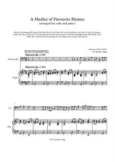 A Medley of Favourite Hymns: Für Cello und Klavier by Unknown (works before 1850)