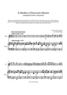 A Medley of Favourite Hymns: Für Flöte und Piano by Unknown (works before 1850)