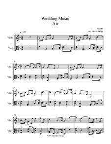 Suite Nr.1 in F-Dur, HWV 348: Aria, for violin and viola by Georg Friedrich Händel
