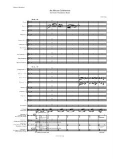 An African Celebration (for Grade 5 Symphonic Band): An African Celebration (for Grade 5 Symphonic Band) by Jordan Grigg