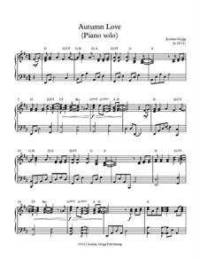Autumn Love: Für Klavier Solo by Jordan Grigg