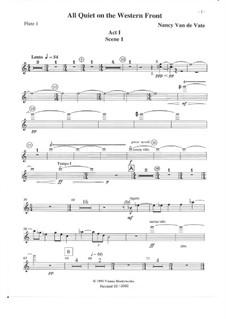 All Quiet on the Western Front: Orchesterstimmen by Nancy Van de Vate