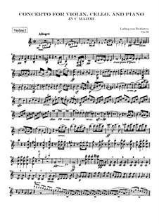 Konzert für Violine, Cello, Klavier und Orchester, Op.56: Violinstimme I by Ludwig van Beethoven