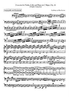 Konzert für Violine, Cello, Klavier und Orchester, Op.56: Cello- und Kontrabassstimme by Ludwig van Beethoven