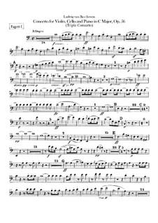 Konzert für Violine, Cello, Klavier und Orchester, Op.56: Fagottstimmen I, II by Ludwig van Beethoven