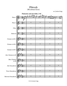 Pibroch: For woodwind choir by folklore