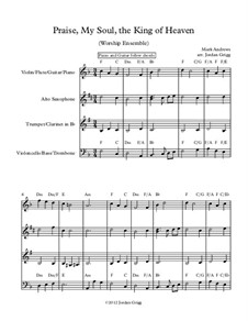 Praise, My Soul, the King of Heaven: For worship ensemble by Mark Andrews