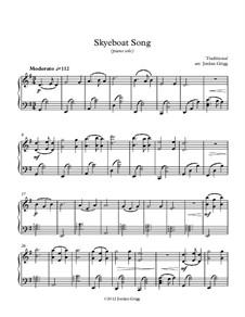 Skye Boat Song: Für Klavier Solo by folklore