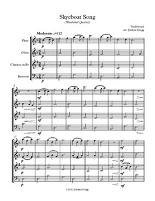Skye Boat Song: For woodwind quartet by folklore