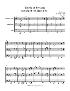 Thistle of Scotland: For brass trio by folklore