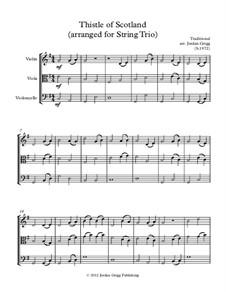 Thistle of Scotland: Für Streichtrio by folklore
