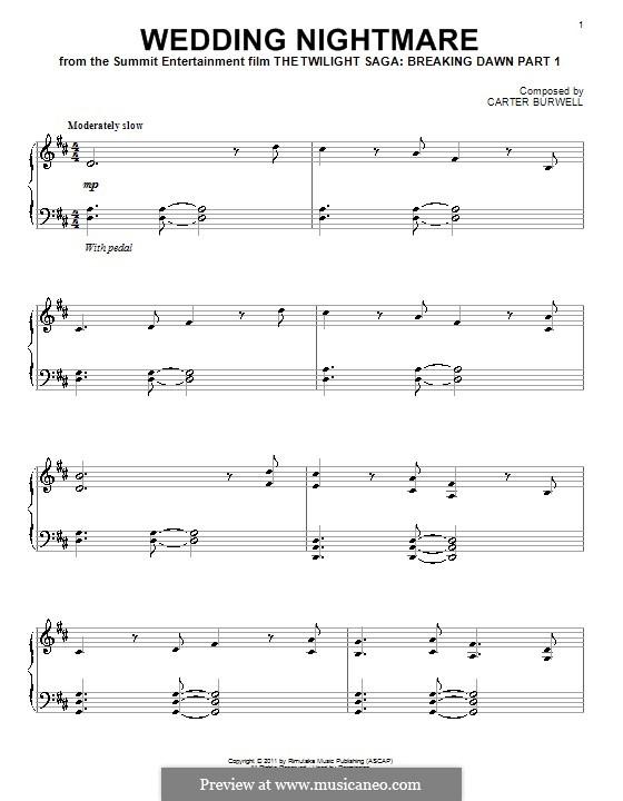 Wedding Nightmare: Für Klavier by Carter Burwell