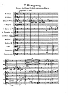 Teil V. Der Hirtengesang - Frohe, dankbare Gefühle nach dem Sturm: Partitur by Ludwig van Beethoven