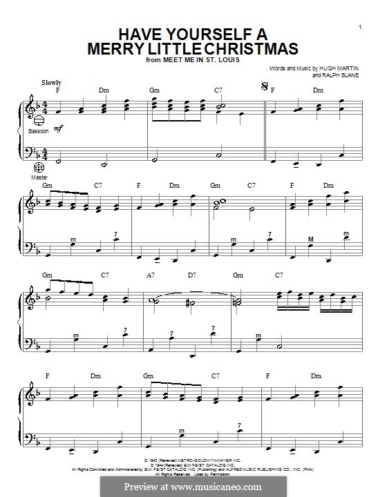 Have Yourself a Merry Little Christmas: For accordion by Hugh Martin, Ralph Blane