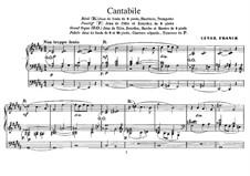 Drei Stücke für Gosse Orgel: Cantabile by César Franck