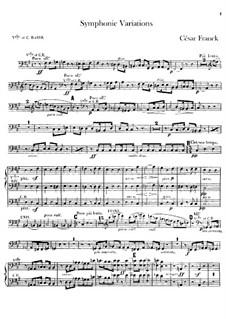Sinfonische Variationen, M.46: Cello- und Kontrabass-Stimme by César Franck