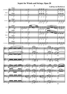 Septett für Bläser und Streicher, Op.20: Teil I by Ludwig van Beethoven