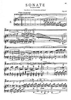 Sonate für Cello und Klavier Nr.3 in A-Dur, Op.69: Allegro, ma non tanto by Ludwig van Beethoven