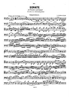 Sonate für Cello und Klavier Nr.3 in A-Dur, Op.69: Solostimme by Ludwig van Beethoven