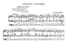Drei Chorale: Choral No.1 für Orgel, FWV 38 by César Franck