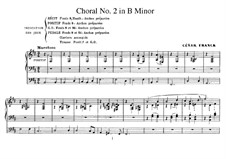Drei Chorale: Choral No.2 in h-moll für Orgel, FWV 39 by César Franck