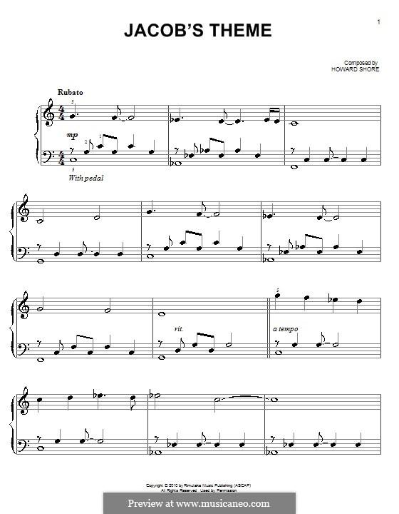 Jacob's Theme (from The Twilight Saga: Eclipse): Für Klavier by Howard Shore