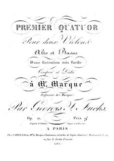 Drei Streichquartette: Violinstimme II by Georg Friedrich Fuchs