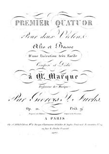 Drei Streichquartette: Violastimme by Georg Friedrich Fuchs