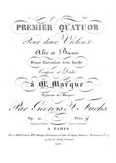 Drei Streichquartette: Cellostimme by Georg Friedrich Fuchs