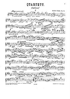 Streichquartett Nr.1 in E-Dur, Op.58: Violinstimme I by Robert Fuchs