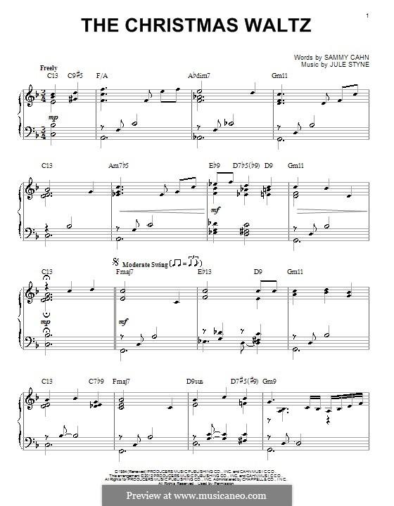 The Christmas Waltz: Für Klavier by Jule Styne