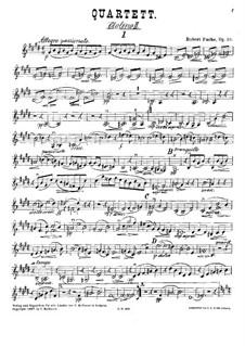 Streichquartett Nr.1 in E-Dur, Op.58: Violinstimme II by Robert Fuchs