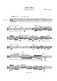 Chaoi Rex, for Clarinet Solo, GL7: Chaoi Rex, for Clarinet Solo by Gonçalo Lourenço