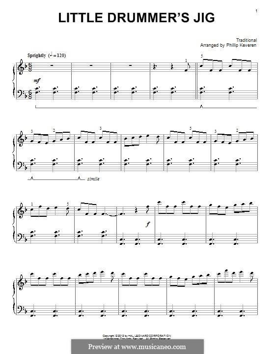 Little Drummer's Jig: Für Klavier by folklore