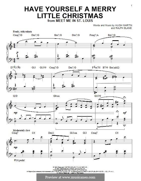 Have Yourself a Merry Little Christmas: Für Klavier by Hugh Martin, Ralph Blane