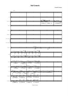 Sui Generis, for 15 Instruments, GL19: Sui Generis, for 15 Instruments by Gonçalo Lourenço