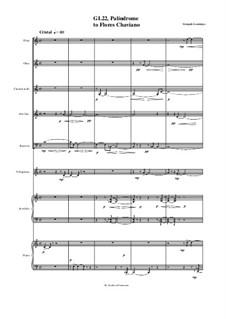 Palíndrome, for Woodwind Quintet, Vibraphone, Accordion and Piano, GL22: Palíndrome, for Woodwind Quintet, Vibraphone, Accordion and Piano by Gonçalo Lourenço