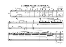 5 Simple pieces for piano: Sixth book No.1, MVWV 704 by Maurice Verheul