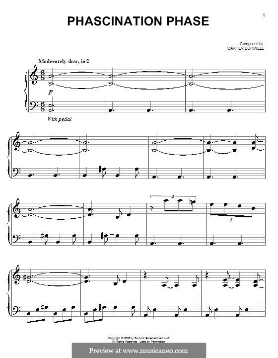 Phascination Phase: Für Klavier by Carter Burwell