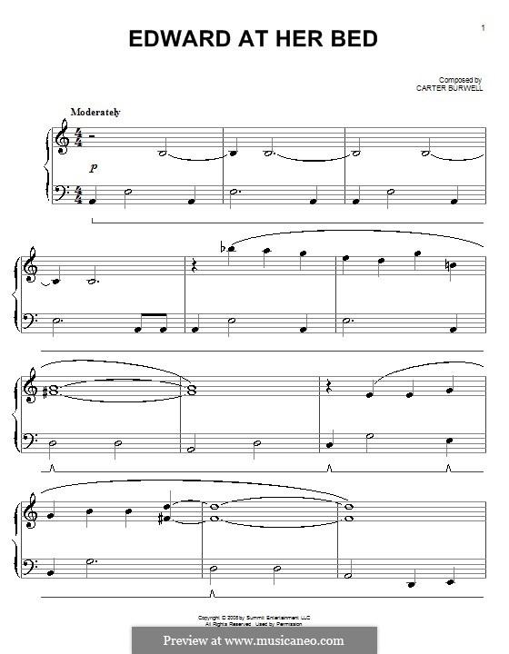 Edward at Her Bed: Für Klavier by Carter Burwell