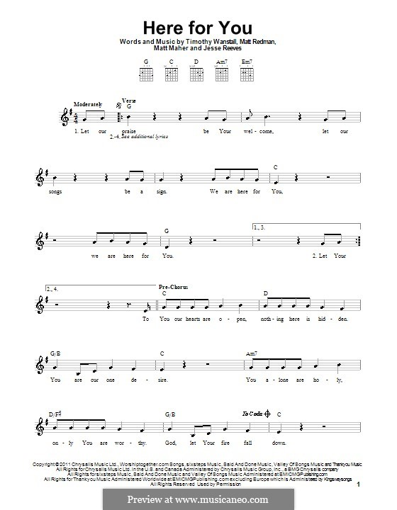 Here for You: Für Gitarre (Passion) by Jesse Reeves, Matt Maher, Matt Redman, Timothy Wanstall