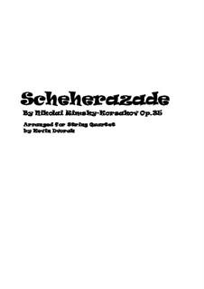 Scheherazade, Op.35: For string quartet – score by Nikolai Rimsky-Korsakov