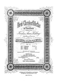 Drei Klavierstücke in Tanzform, Op.17 No.2: No.1 Polonaise by Moritz Moszkowski